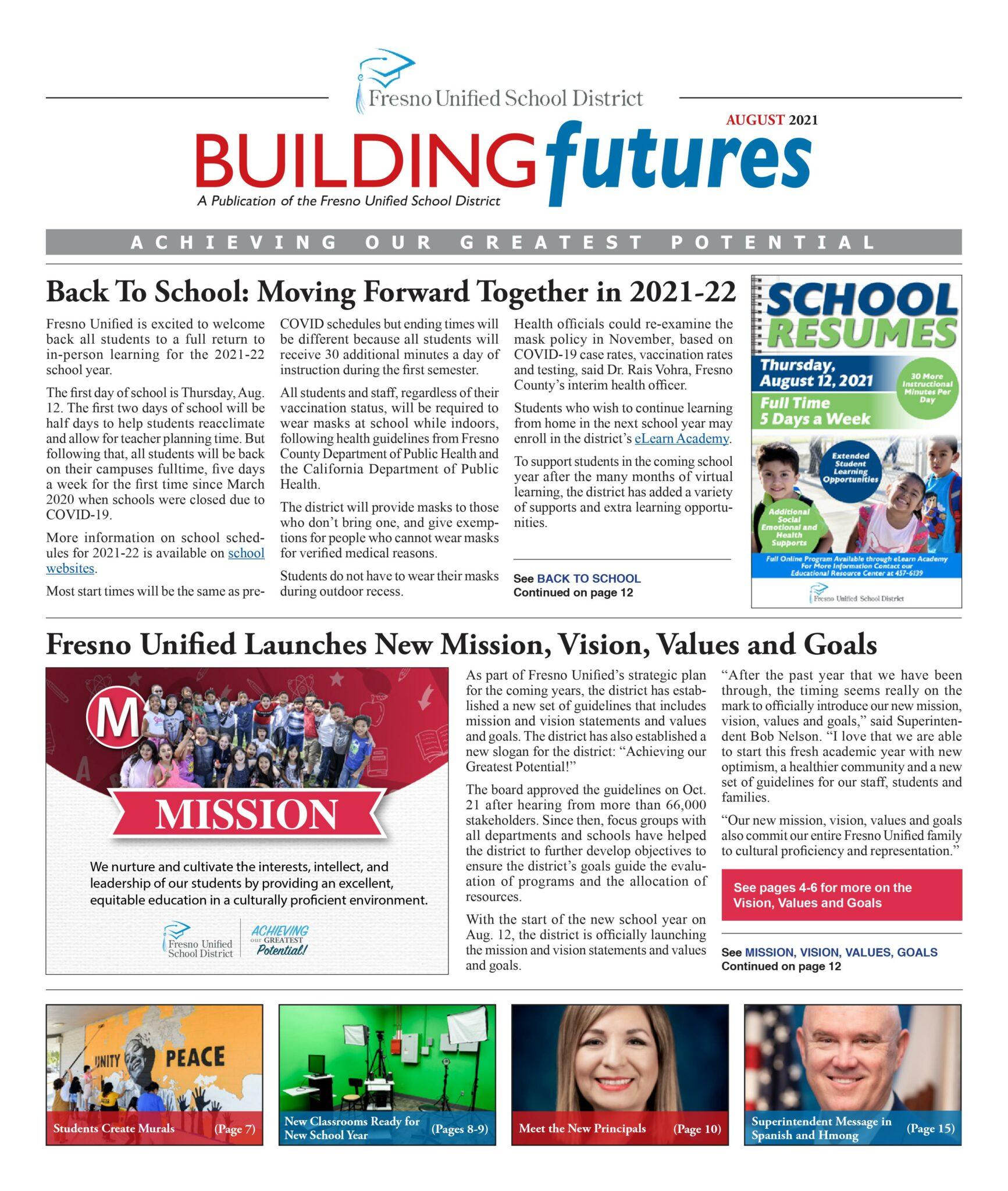 Building Futures August 2021