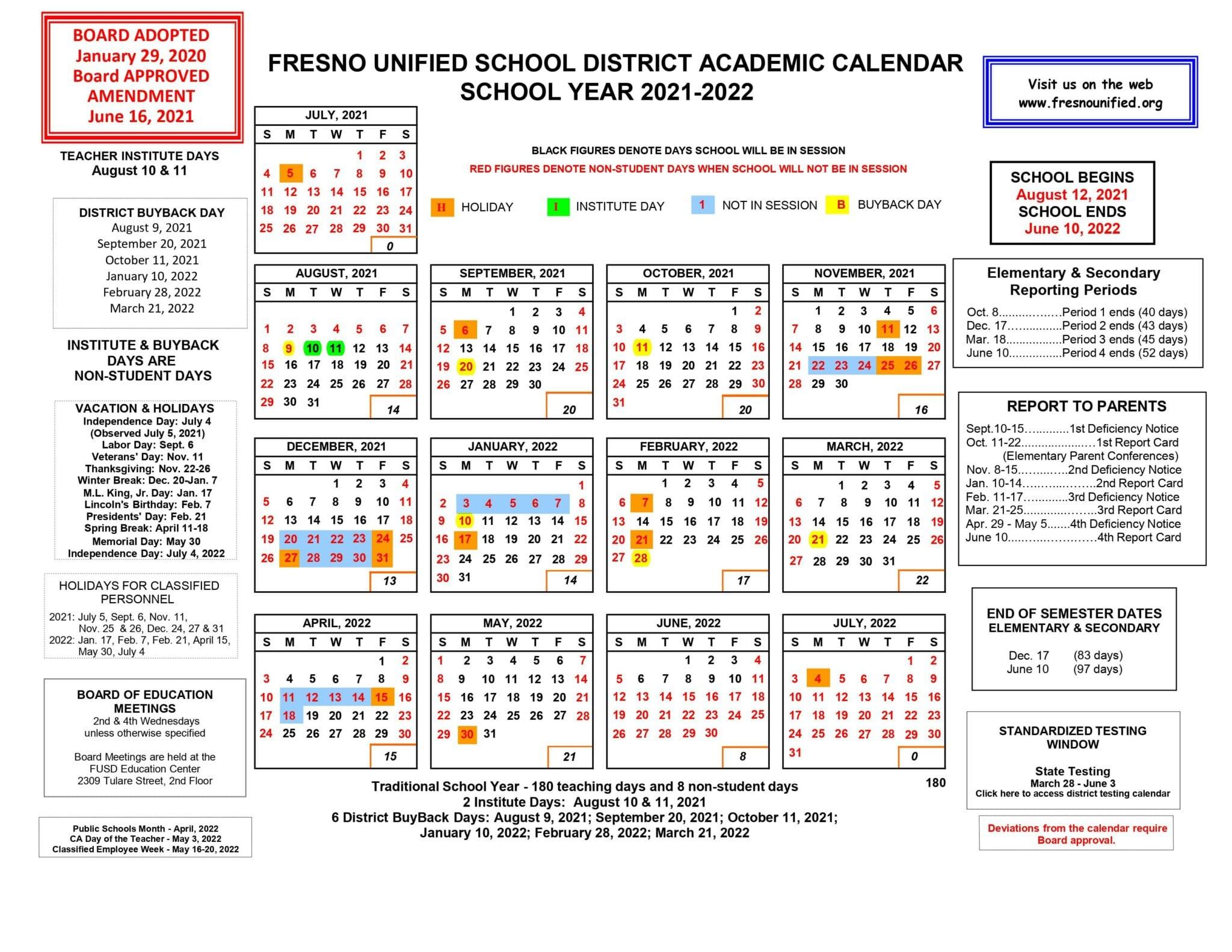 School Starts August 12, 2021