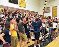 Edison students at a rally
