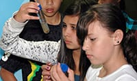 Ahwahnee Students studying water samples